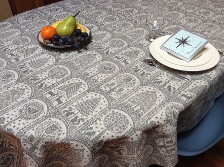 nordic style Christmas tablecloth