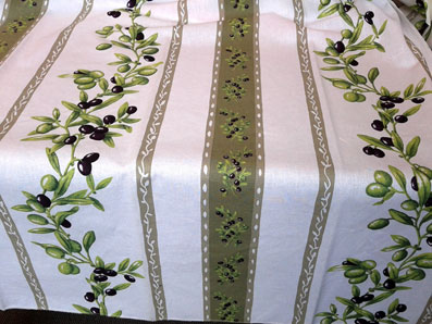 olive design wipe over french tablecloth