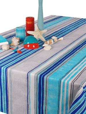 basque design coated tablecloth