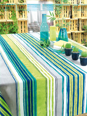 coated french tablecloth