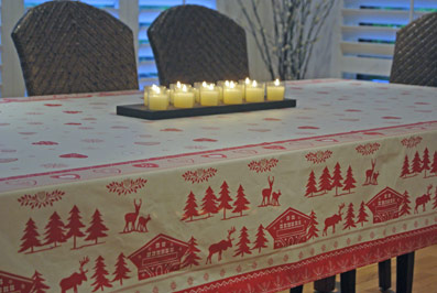 Christmas coated tablecloth