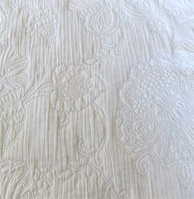 white matelasse french tablecloth