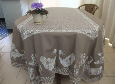 French country reversible tablecloth