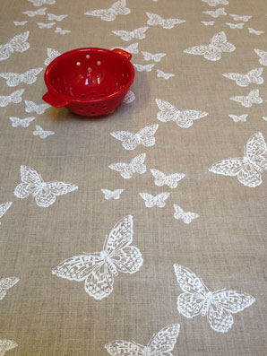 Butterflies design coated fabric