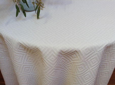 round boutis quilted tablecloth