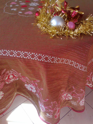 Christmas tablecloth
