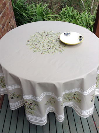 70 inches round oilcloth from Provence