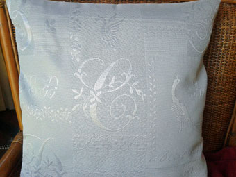 pique quilted pillow cover