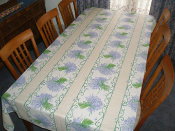provencal tablecloth with lavender design