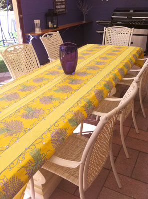 vinyl provence tablecloth with lavender design