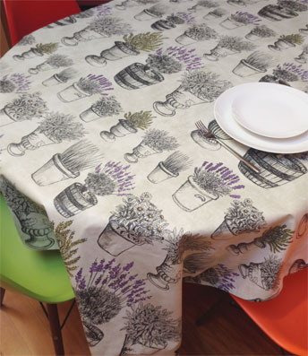 provencal table cloth with lavender designs