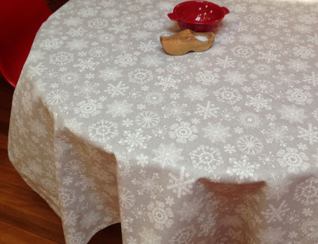 winter tablecloth with snowflakes designs