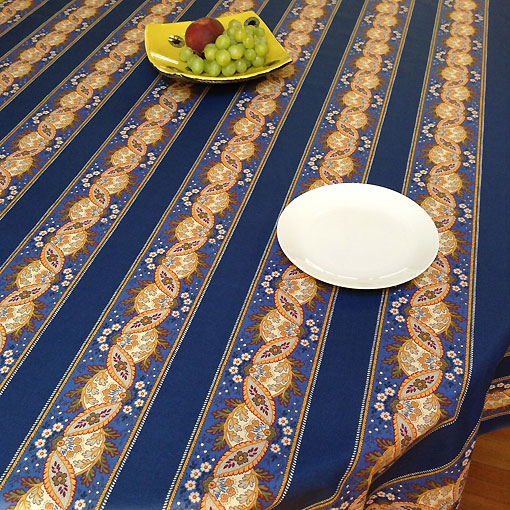French provencal blue and yellow large cotton tablecloth