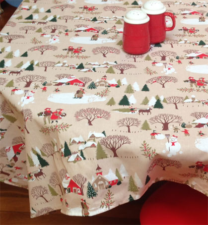christmas fabric for tablecloth