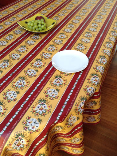 French provencal teflon coated tablecloth