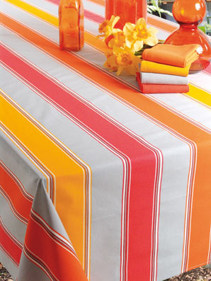 plastic coated basque tablecloth
