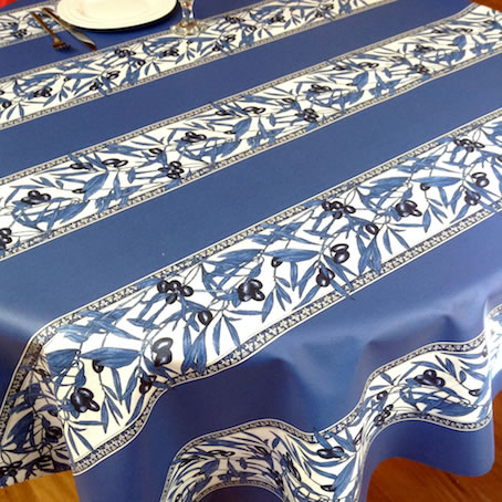 blue and white provencal tablecloth