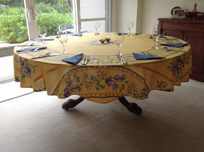 90in round cotton tablecloth