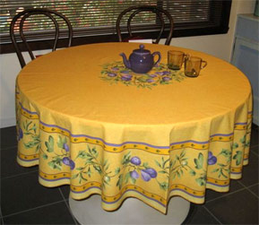 provencal round tablecloth with fig designs