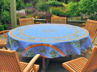 90in round provencal tablecloth