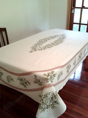 french provencal tablecloth with olives design