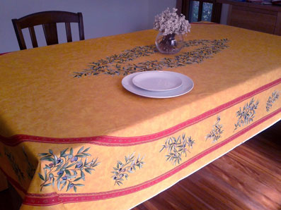 oval provencal cotton tablecloth