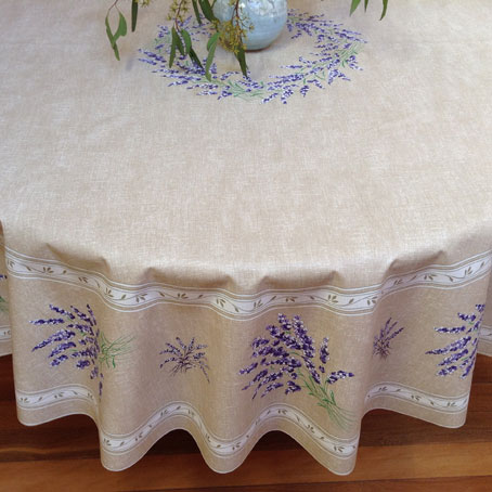 lavender design oilcloth from provence