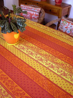 french provencal plastic treated tablecloth