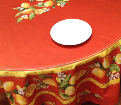 90in round stain resistant round tablecloth