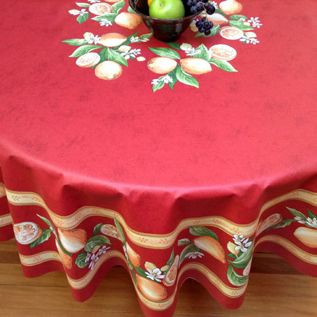 180 cm round oilcloth from provence