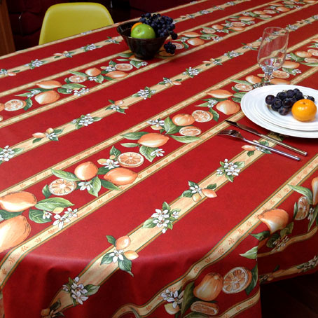 oilcloth from provence with lemon designs