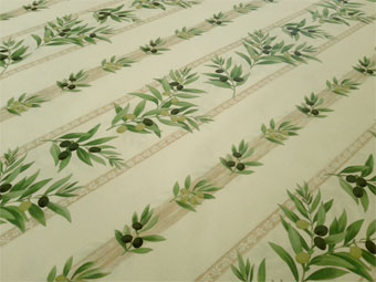 olive design french coated tablecloth