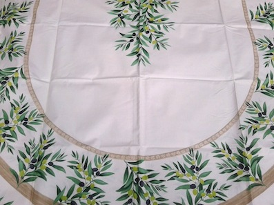 oval coated tablecloth