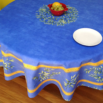 70in round cotton tablecloth from provence