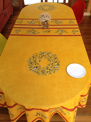 10 to 12 seater french provencal tablecloth with olive designs