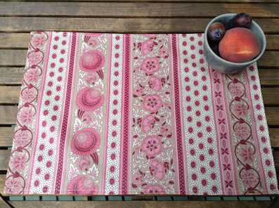 pink coated placemats