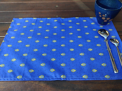 provenca blue and gold treated place mats