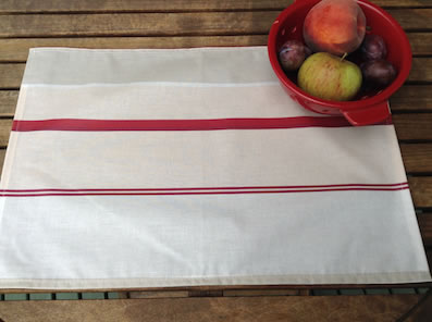 coated placemats from france