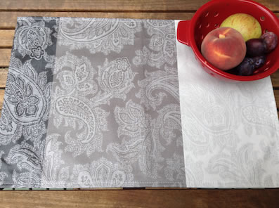 jacquard coated placemat