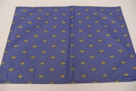 blue yellow cotton placemat