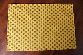yellow green cotton placemat