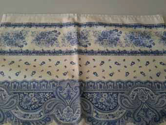 white and blue provencal placemats