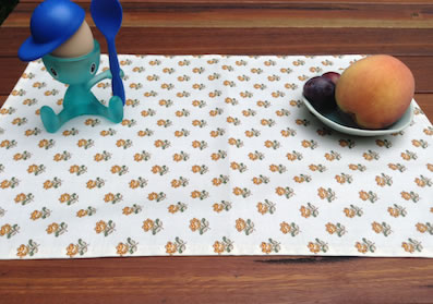 stain free treated placemats from provence