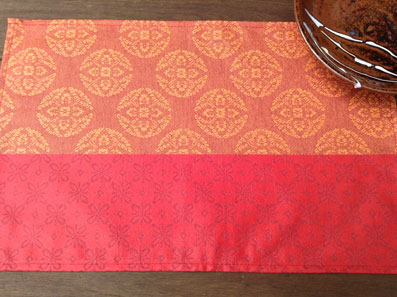 coated jacquard placemat
