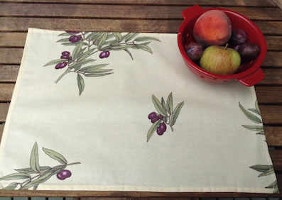 olive design coated placemats