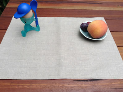 coated linen placemats