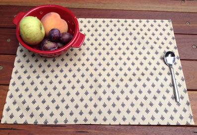 plastic treated placemats