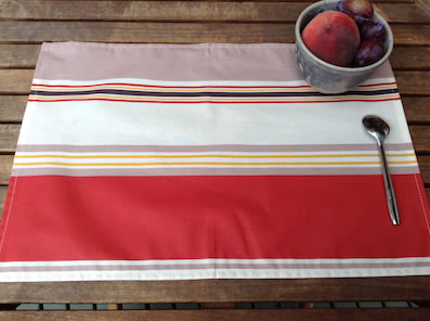 basque design coated placemats