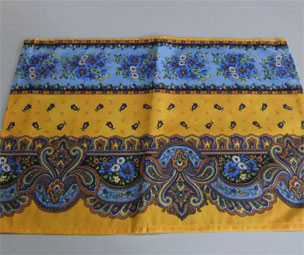 provencal placemat traditional yellow and blue