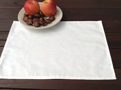 white coated Jacquard placemat from Paris